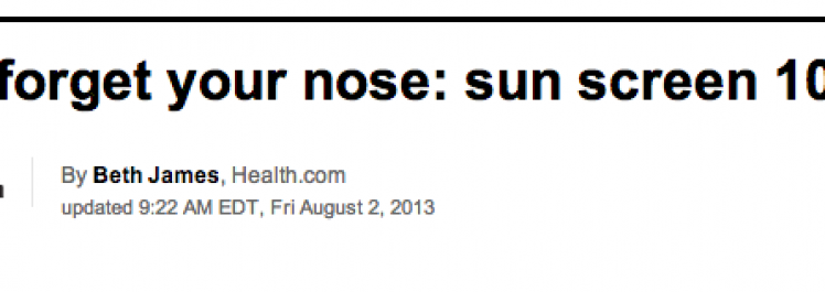 CNN: Don't forget your nose: sun screen 101