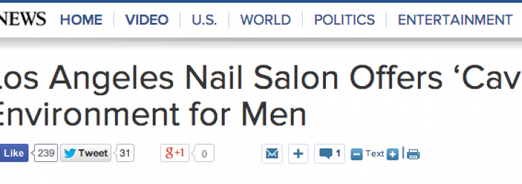 ABC News: Los Angeles Nail Salon Offers 'Cave' Environment for Men